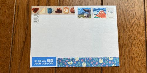 マスキングテープを貼ったポストカード